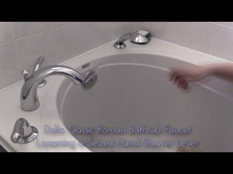 Delta Bathtub Faucet  Classic Roman Tub with Hand Shower Loosening Repair YouTube