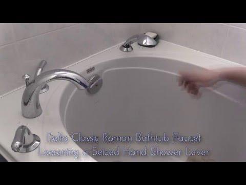 delta bathtub faucet classic roman tub with hand shower loosening repair