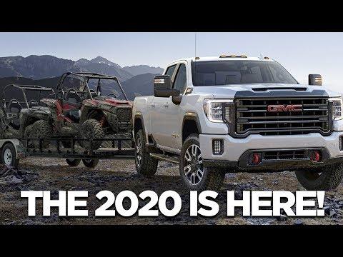 2020 GMC SIERRA HEAVY DUTY l 6.6 L 445 HP Duramax Engine & Transparent Trailer View