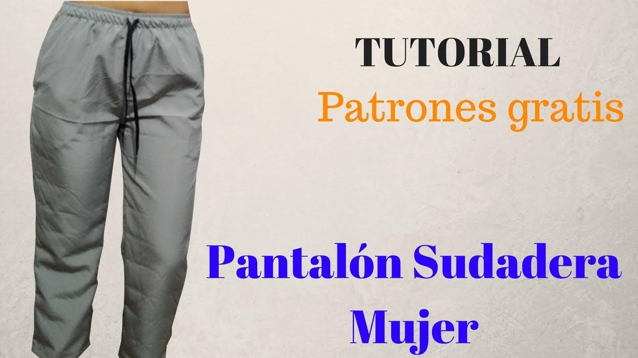 DIY Como hacer un pantalón de sudadera mujer corte y confección ... 3fadfa952f3