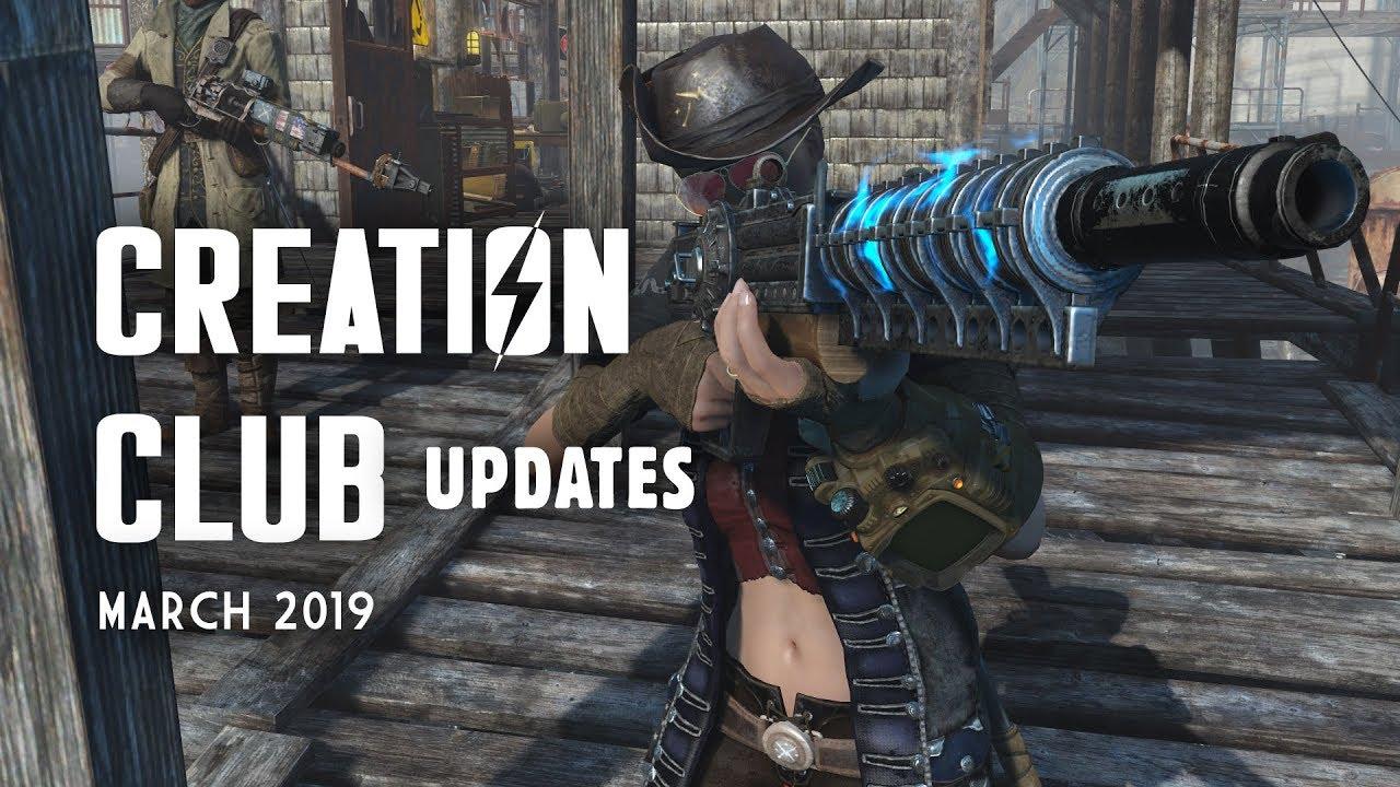 Creation Club Updates: Gauss Rifle Flash, Workshop Tile