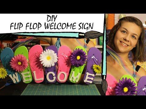 Kate Creates DIY Flip Flop Welcome Sign