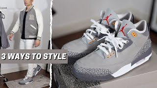 HOW TO STYLE AÏR JORDAN 3 COOL GREY   Sneakers & Style: Review & Outfits