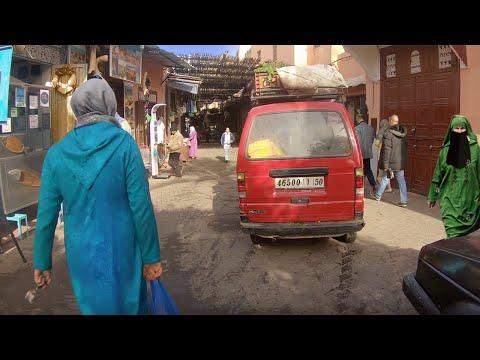 Walking Tour of Real MARRAKECH — Morocco Africa Video Walk【4K】🇲🇦