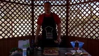Шашлык из баранины по кавказски. Гранатовый сок и специи