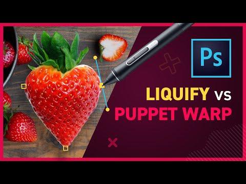 Puppet Warp Vs Liquify Filter - Photoshop CC 2020