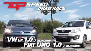Drag Race : Uno 1.0 Vs Up 1.0 | Canal Top Speed