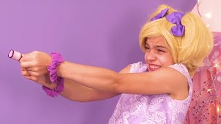 Princess Olivia's Birthday Party Gets Messy! | Kiddyzuzaa - Princesses In Real Life