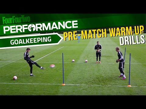 Goalkeeper training drills | Pre-match warm up | Swansea City Academy