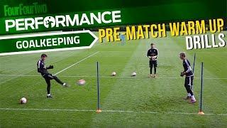 Goalkeeper training drills | Pre-match warm up | Swansea City Academy