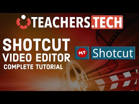 Shotcut Video Editor 2018 - Complete Beginners Tutorial