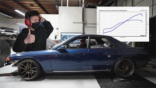 R32 Skyline Makes CRAZY HP on Dyno!