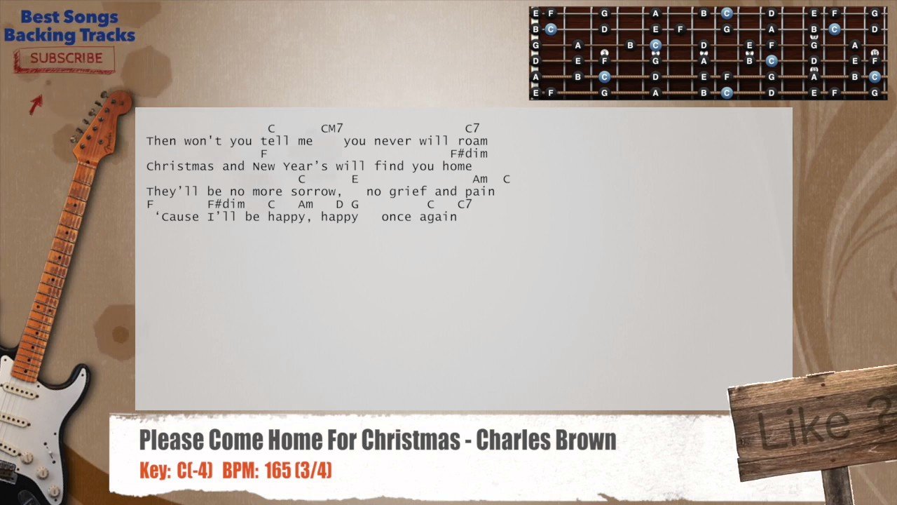 Please Come Home For Christmas - Charles Brown Guitar Backing Track ...
