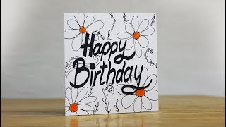 Beautiful Birthday Greeting Card Idea - Easy Card Making