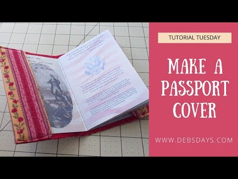 How To Sew A Fabric Passport Holder - Quick And Easy DIY Project