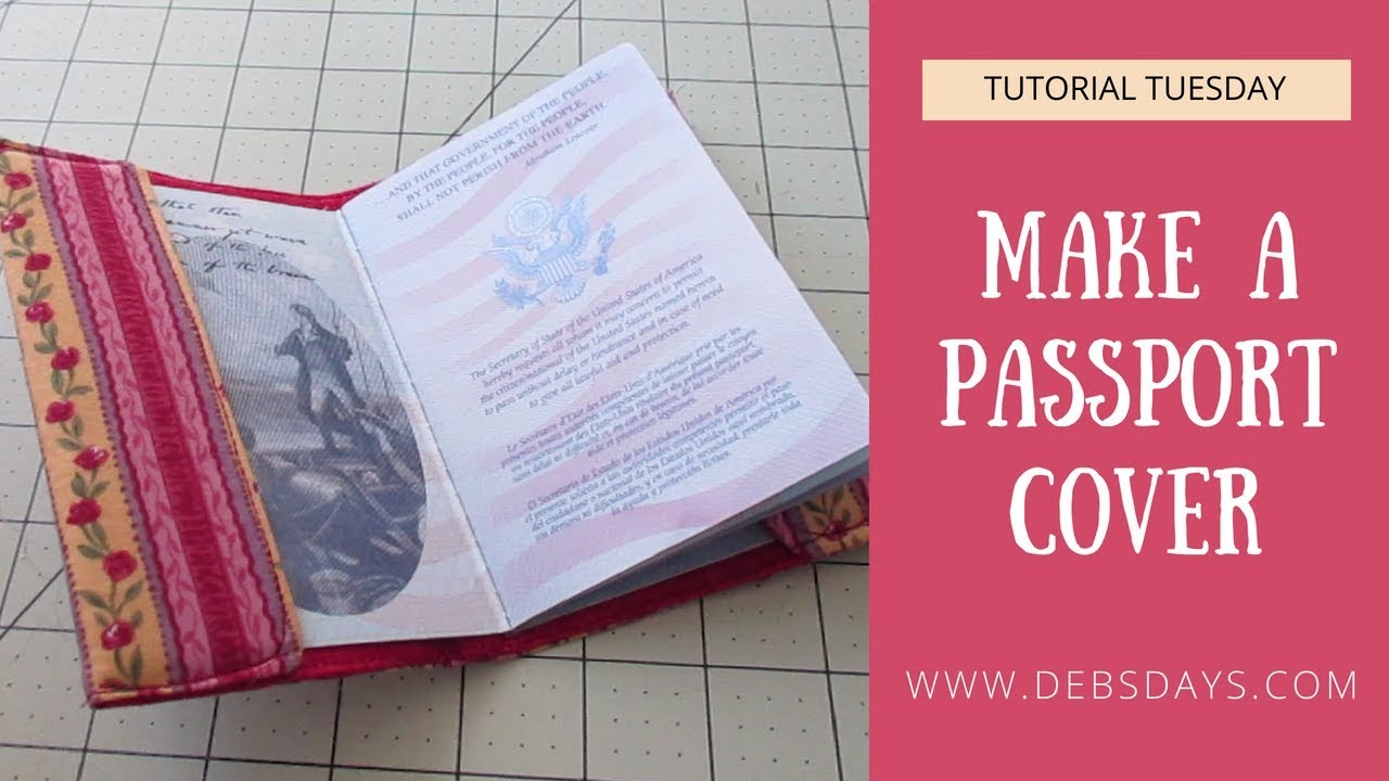 8544b9c91b17 How to Sew a Fabric Passport Holder - Quick and Easy DIY Project