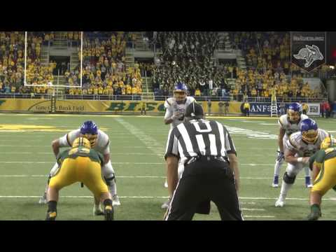 Jake Wieneke Game-Winning TD Reception vs North Dakota State (10.15.2016)