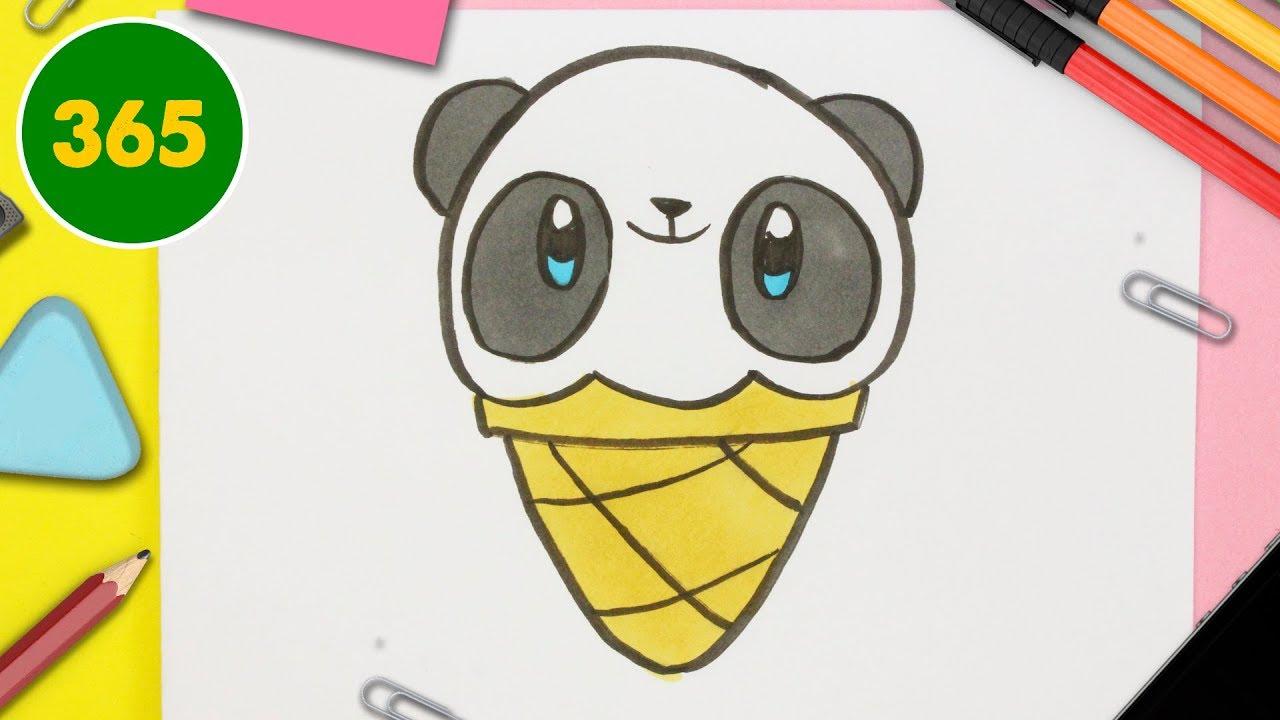 Comment Dessiner Crème Glacée Panda Kawaii