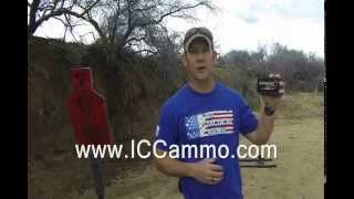 frangible ammo from icc ammo shooting it at point blank distance on ar500 steel targets