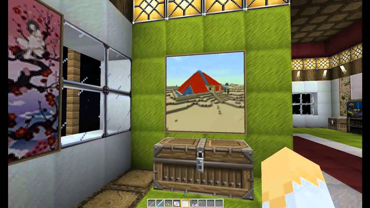 idee di arredo su minecraft con i quadri personalizzati - youtube - Idee Arredamento Minecraft