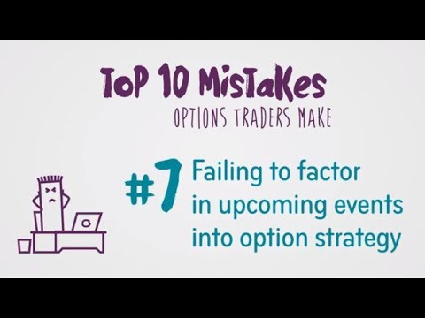 Options Trading Mistake #7: Not factoring upcoming events