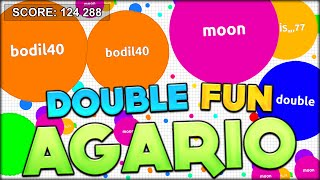 DOUBLE AGARIO? RYAN TRIES OUT THE SPEEDY AGARIO FOR THE FIRST TIME EVER! (Agar.io #107)