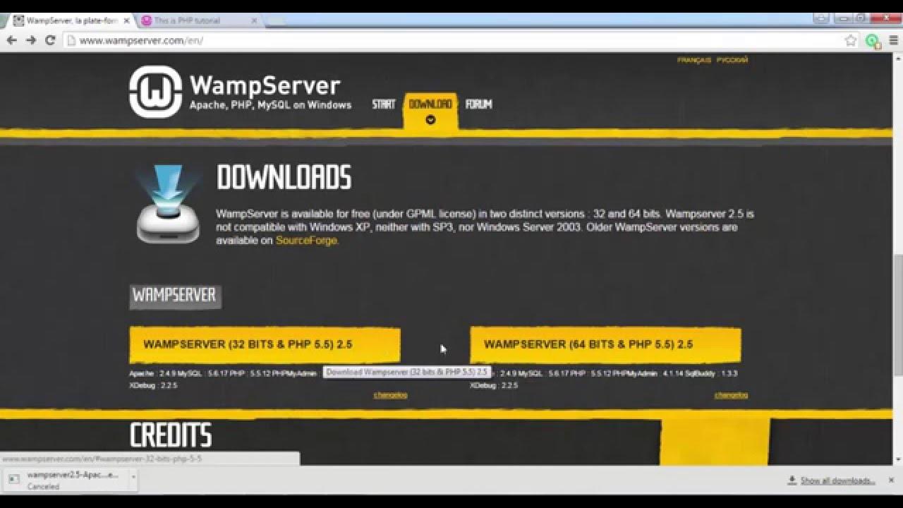 wamp server 32 bits