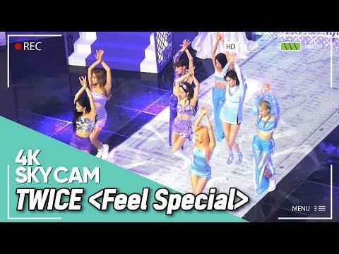 [4K SKYCAM] TWICE(트와이스) - Feel Special FanCam @190926 M COUNTDOWN High Angle Cam