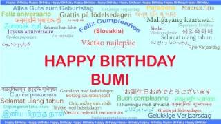 Bumi   Languages Idiomas - Happy Birthday