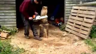 Chainsaw Carving - Owl