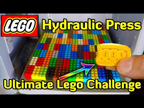 Thumbnail: HYDRAULIC PRESS vs 104 LEGO BRICKS (900kg/piece)