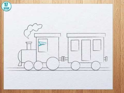 How to draw a train - YouTube How To Draw A Train For Kids Step By Step