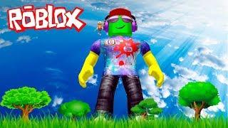 Я СТАЛ ГИГАНТОМ в ROBLOX Видео для детей БИТВА с ОГРОМНЫМИ Мульт героями Роблокс