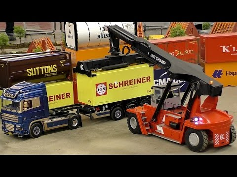 RC CONTAINER TERMINAL SCALE 1:14 MODEL TRUCK LOGISTIC / Intermodellbau Dortmund 2016
