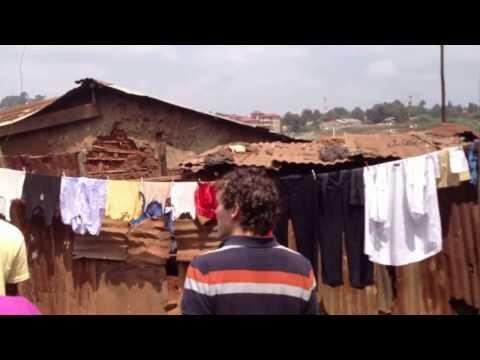 Touring the Kibera Slum outside of Nairobi, Kenya