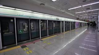 【韓国】 光州都市鉄道1号線 南光州駅   광주 도시철도 1호선 남광주역  Gwangju Metro Line 1 Namgwangju Station, Korea (2019.8)