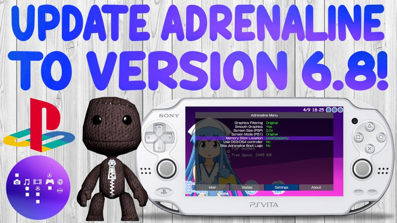 what ps vita versions work with adrenline firmware