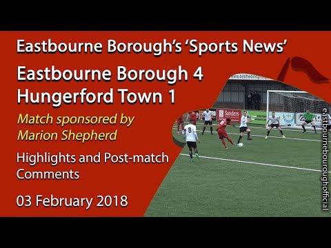 'Sports News': Eastbourne Borough 4 v 1 Hungerford Town - Vanarama National League South Highlights