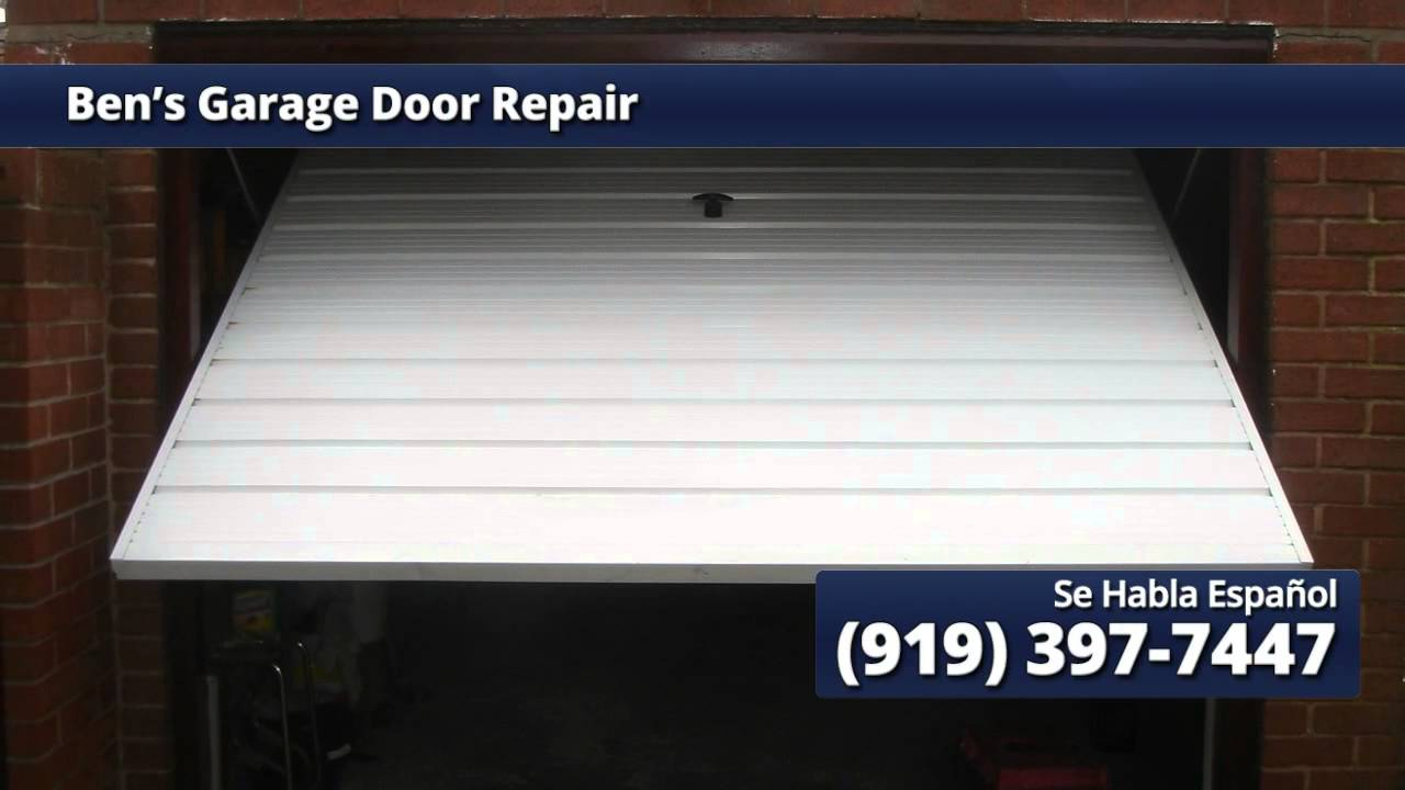 Garage Door Repair Cary, NC | Ben's Garage Door Repair - YouTube on this old house door repair, diy garage repair, shower door repair, garage car repair, garage sale signs, anderson storm door repair, cabinet door repair, garage walls, garage kits, garage doors product, refrigerator door repair, sliding door repair, auto door repair, pocket door repair, garage ideas, door jamb repair, home door repair, backyard door repair, interior door repair, garage storage,