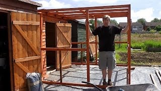 Ricks Allotment (ep95) Home Made Greenhouse (part 2)