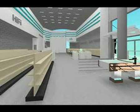 3D Retail Floor Design - YouTube
