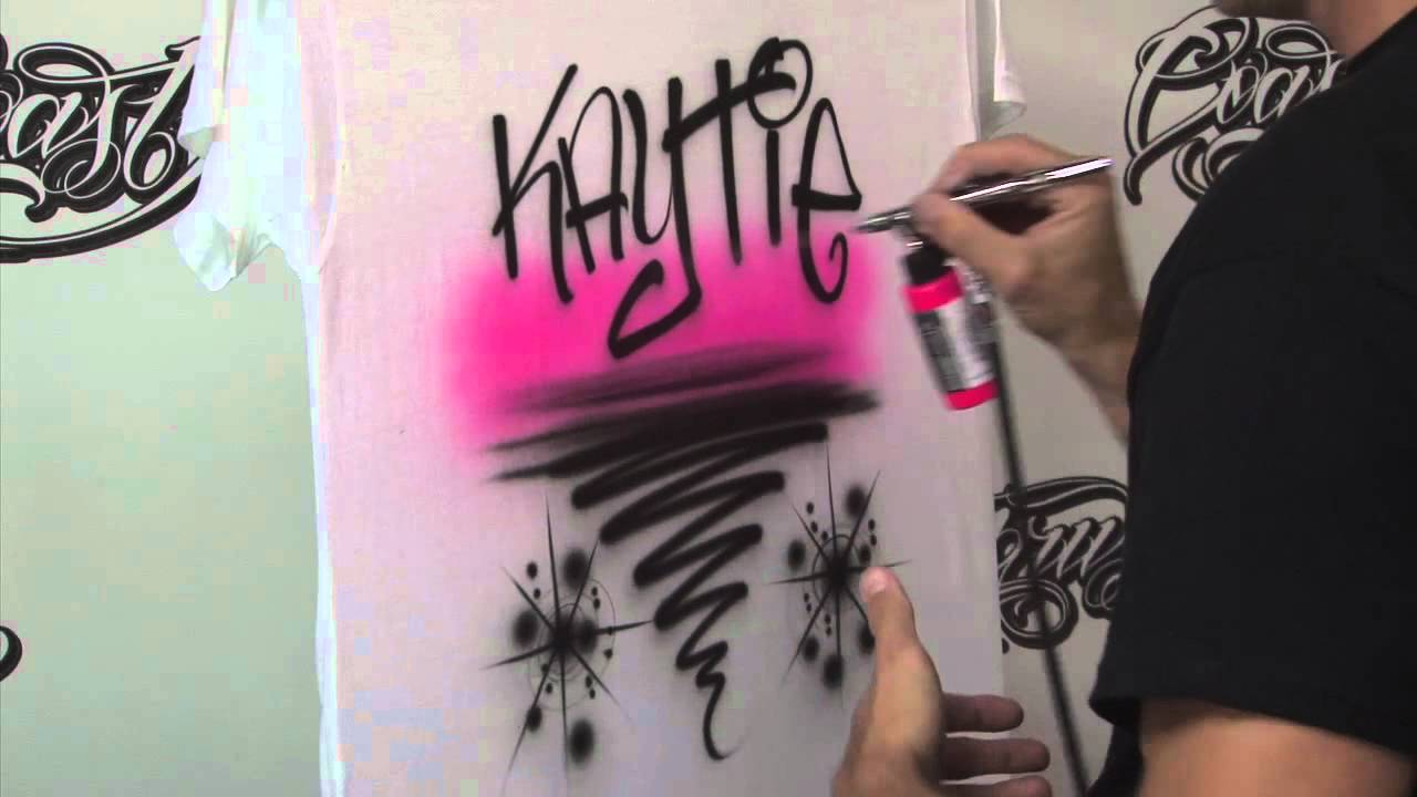 6c4e0f0a3 How to Airbrush T Shirts for Beginners Pt. 2 w/ Kent Lind - YouTube