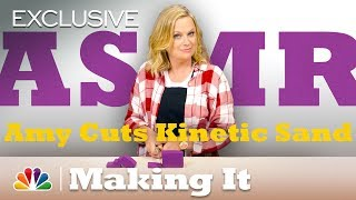 ASMR: Amy Poehler Slices Loaves of Kinetic Sand - Craft Satisfying - Making It