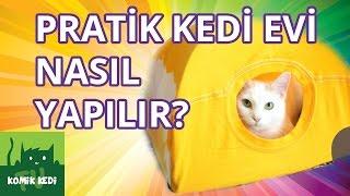 Kedi Videoları: Pratik Kedi Evi Nasıl Yapılır?