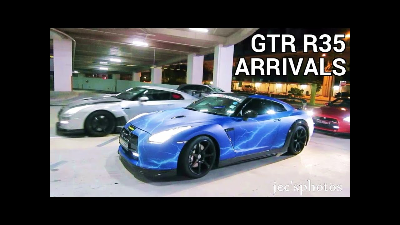 Modified Nissan Gtr R35s Arriving At Big Box Sin