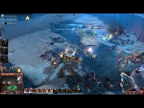 Видео прохождения демо миссии Dawn of War III на русском