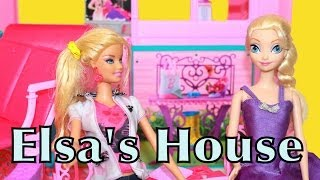 Elsa Finds A Vacation Home Barbie Ultimate House Dollhouse Disney Frozen Doll Parody Alltoycollector