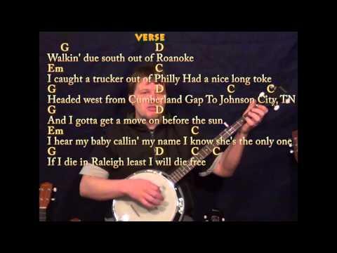 Wagon Wheel - Easy Banjo - G Em C D - Easy Cover Lesson with Lyrics