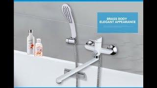 Обзор смесителя для ванны с длинным изливом GAPPO G2248