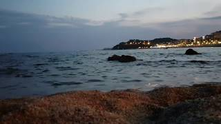 Море.Шум моря. Испания. Ллорет де Мар. Spain. Lloret de Mar. Sea hyperlapse 4х.